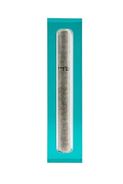 Apeloig Collection Mezuzah Turquoise Acrylic Mezuzah - (Choice of Colors)