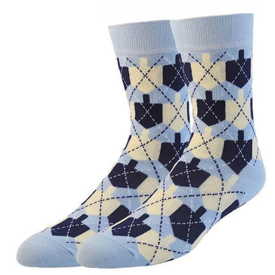 Midrash Manicures Socks One Size Dreidel Argyle Socks