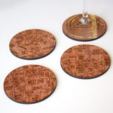 Atlanta Neighborhood Maps in Cedar Wood by Neighborwood - ModernTribe - 6