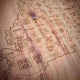 Atlanta Neighborhood Maps in Cedar Wood by Neighborwood - ModernTribe - 5