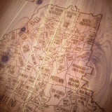 Atlanta Neighborhood Maps in Cedar Wood by Neighborwood - ModernTribe - 1