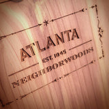 Atlanta Neighborhood Maps in Cedar Wood by Neighborwood - ModernTribe - 3
