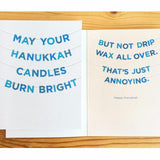 MAY YOUR HANUKKAH CANDLES BURN BRIGHT Hanukkah Card by Old Tom Foolery - ModernTribe - 1