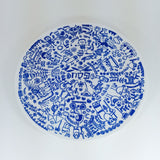 Pesach Plate in Blue by Barbara Shaw by Barbara Shaw - ModernTribe - 1