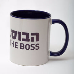 The Boss Black Mug