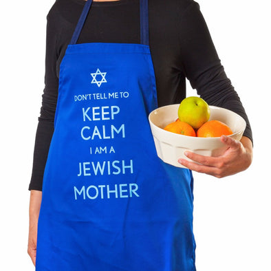 Barbara Shaw Aprons Blue Don't Tell Me to Keep Calm, I'm a Jewish Mother Apron