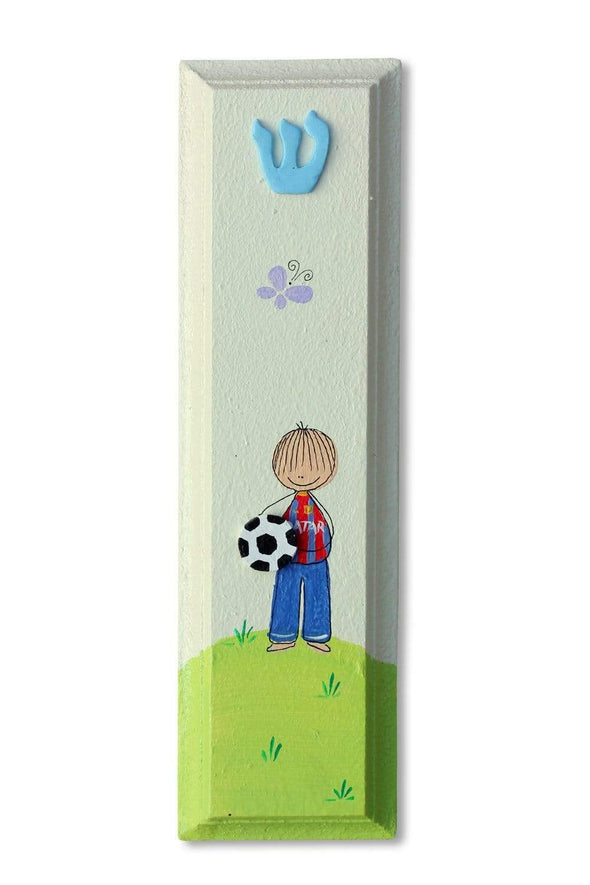 Whimsical Hand Painted Mezuzahs by Sharon Goldstein by Sharon Goldstein Happy Judaica - ModernTribe - 21