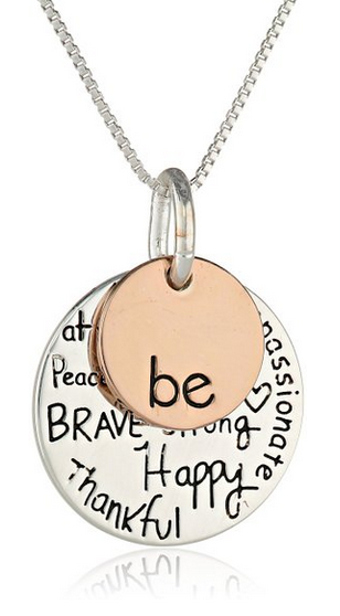 "Other Necklaces Silver ""Be"" Charm Necklace"