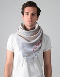 Semitic Keffiyeh Scarf in Beige - With Am Yisrael Chai by Shemspeed Records - ModernTribe - 2