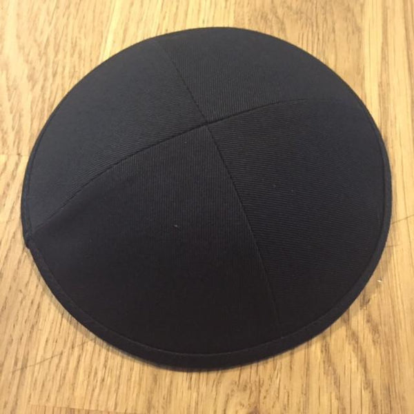 Other Kippah Black / Medium Black Cotton Kippah