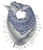Semitic Keffiyeh Scarf in Blue - With Am Yisrael Chai by Shemspeed Records - ModernTribe - 1