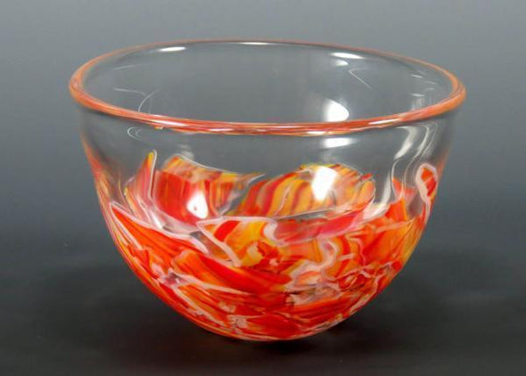 Smash Glass Bowl by Rosetree Glass Studio