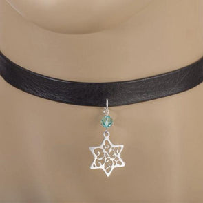 Lacy Star of David Choker