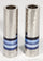Cylinder Hammered Candlesticks by Yair Emanuel - Blue