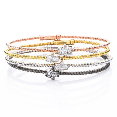 Hamsa Stacking Cable Bracelets