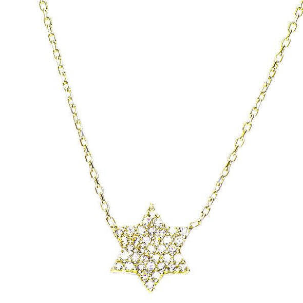 Star of David Sparkling Necklace by Aleph Bet - ModernTribe - 2