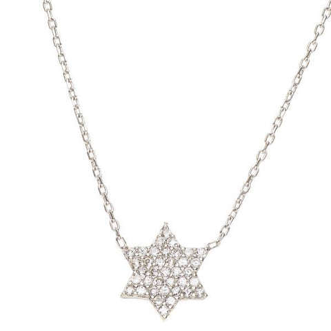 Star of David Sparkling Necklace by Aleph Bet - ModernTribe - 1