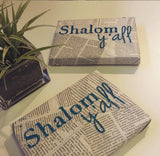 Shalom Y'all Newspaper Wall Art by Old News Design - ModernTribe - 2