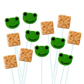 Matzah and Frog Marzipan Lollipops - Mix 'n' Match Set