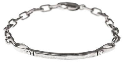 Curved Bar Bracelet in Silver by Marla Studio by Marla Studio - ModernTribe - 1