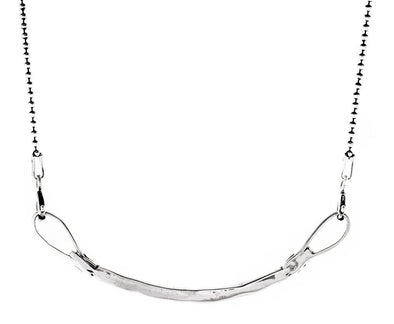 Curved Bar Necklace in Silver by Marla Studio - ModernTribe