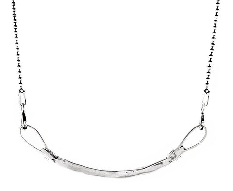 Curved Bar Necklace in Silver by Marla Studio by Marla Studio - ModernTribe - 1