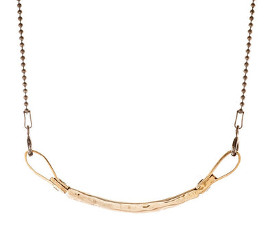 Curved Bar Necklace in Bronze by Marla Studio - ModernTribe