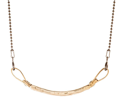 Curved Bar Necklace in Bronze by Marla Studio by Marla Studio - ModernTribe - 1