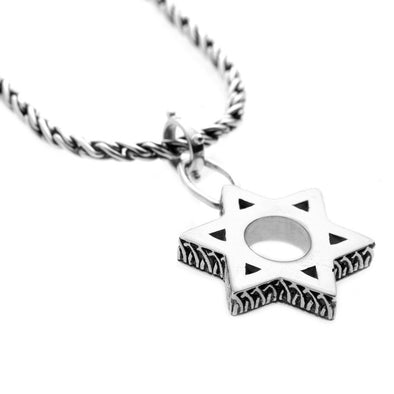 Cynthia Gale GeoArt Necklaces Silver Jewish Museum Jewish Star Necklace- Sterling Silver