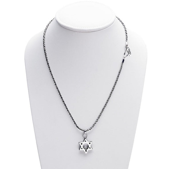 Jewish Museum Jewish Star Necklace- Sterling Silver by Cynthia Gale GeoArt - ModernTribe - 2