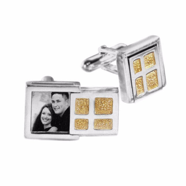 Cynthia Gale GeoArt Cufflinks Gold Window Cufflinks