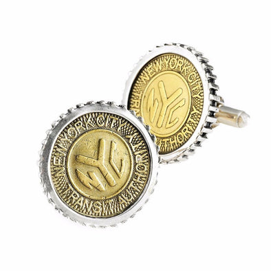NYC Authentic Subway Token Sterling Silver Large Cufflink