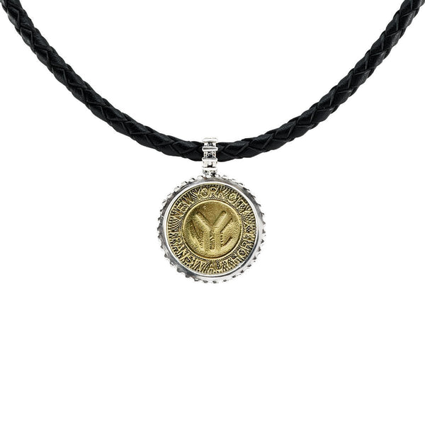 NYC Authentic Subway Token Sterling Silver Necklace - ModernTribe