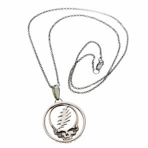 Grateful Dead Steal Your Face Sterling Necklace