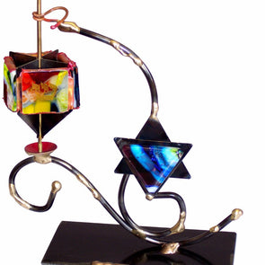 Dreidel on Star Stand by Gary Rosenthal