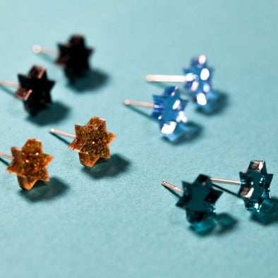 Ariel Tidhar Earrings Mini Magen Studs - (Choice of Color)