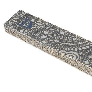 Ornamented Steel Lace Mezuzah Cover by Metalace Art by Metalace Art - ModernTribe