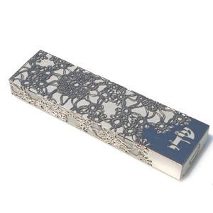 Late Blooming Steel Lace Mezuzah Cover by Metalace Art by Metalace Art - ModernTribe