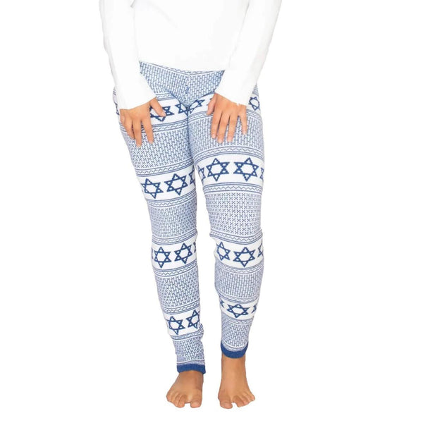 Star of David Royal Blue Leggings - ModernTribe
