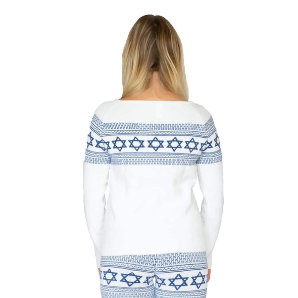 Star of David Royal Blue Sweater