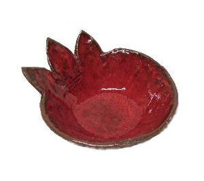 Red Ceramic Pomegranate Serving Dish by Dani Goren - ModernTribe - 2