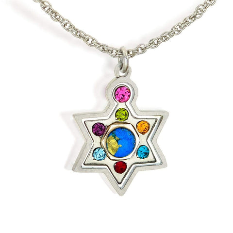 Seeka Multicolor Star of David with Crystals by Seeka - ModernTribe - 1