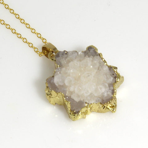 Star of David Druzy Necklace by Nesoi Collection - ModernTribe - 1