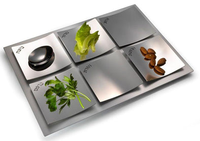 Dune Seder Plate - Stainless Steel by Laura Cowan - ModernTribe
