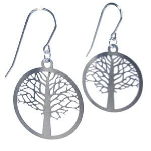 Polli Elm Tree of Life Earrings - Silver - Small by Polli - ModernTribe - 1