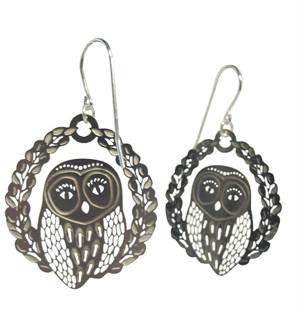 Polli Stainless Steel Hoot Earrings by Polli - ModernTribe