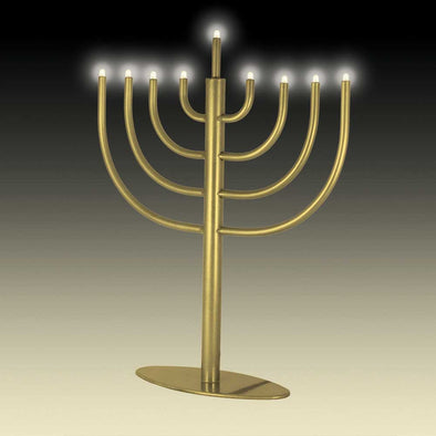 Classic Modern LED Electric Menorah - Gold by Other - ModernTribe
