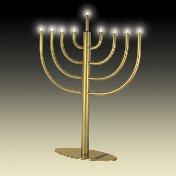 Other Menorah Classic Modern LED Electric Menorah - Gold