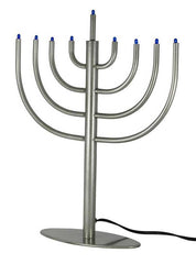 Classic Modern LED Electric Menorah - Silver by Other - ModernTribe