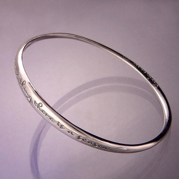 To Everything There Is A Season Sterling Silver Bangle - ModernTribe